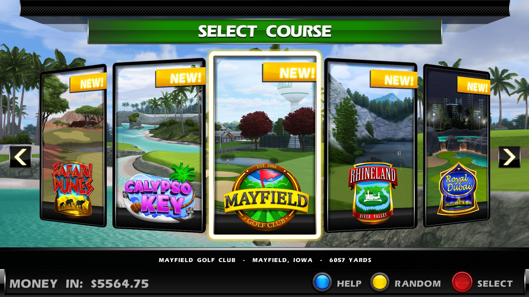 Golden Tee 2018 Courses
