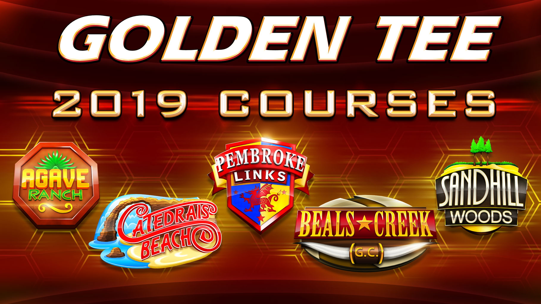 Golden Tee 2019 Courses
